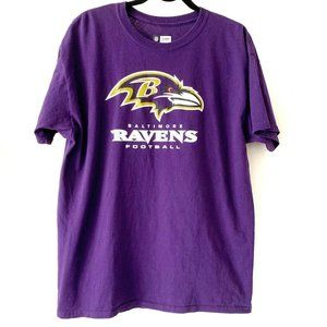 NFL Team Apparel Baltimore Ravens T Shirt L